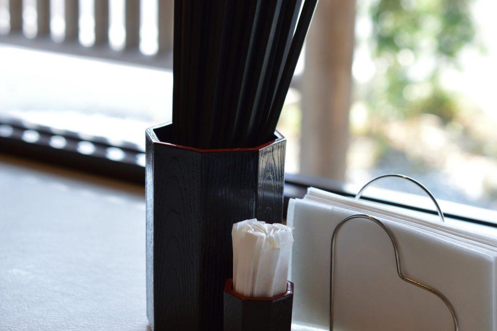 無限 箸、楊枝、ナプキン
