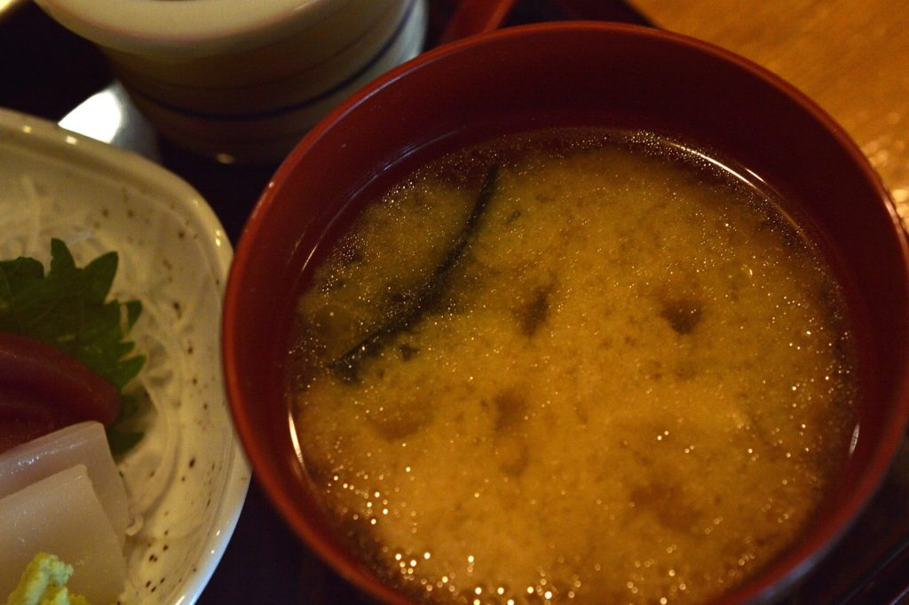 ひたちなか市 寿司割烹 梅本 特製梅本ランチ みそ汁
