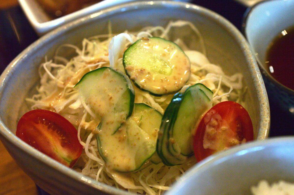 ひたちなか市 寿司割烹 梅本 特製梅本ランチ サラダ
