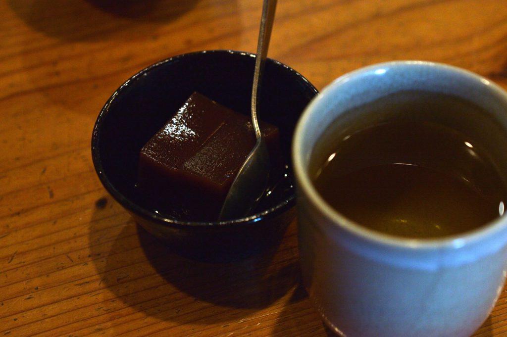 ひたちなか市 寿司割烹 梅本 特製梅本ランチ デザートの水羊羹
