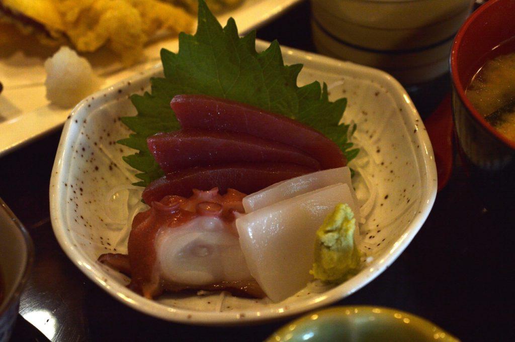 ひたちなか市 寿司割烹 梅本 特製梅本ランチ 刺身