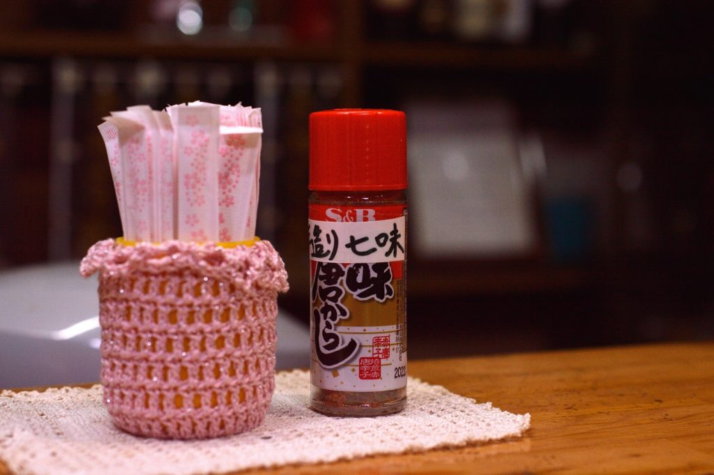 桜川市 あじさい カウンター上の手作り七味