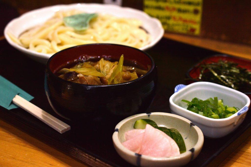 桜川市 あじさい 肉汁うどん