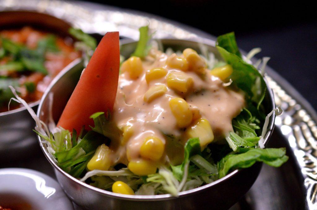 ひたちなか 印度屋らんがる ランチセット サラダ
