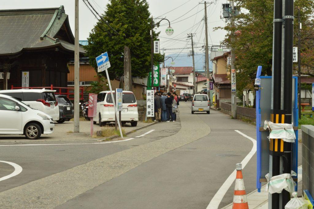 福島県喜多方市 観光 ばんない食堂の行列2