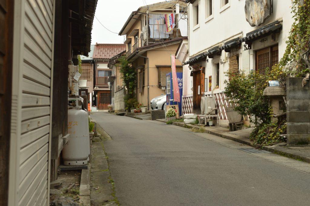 福島県喜多方市 観光 路地裏