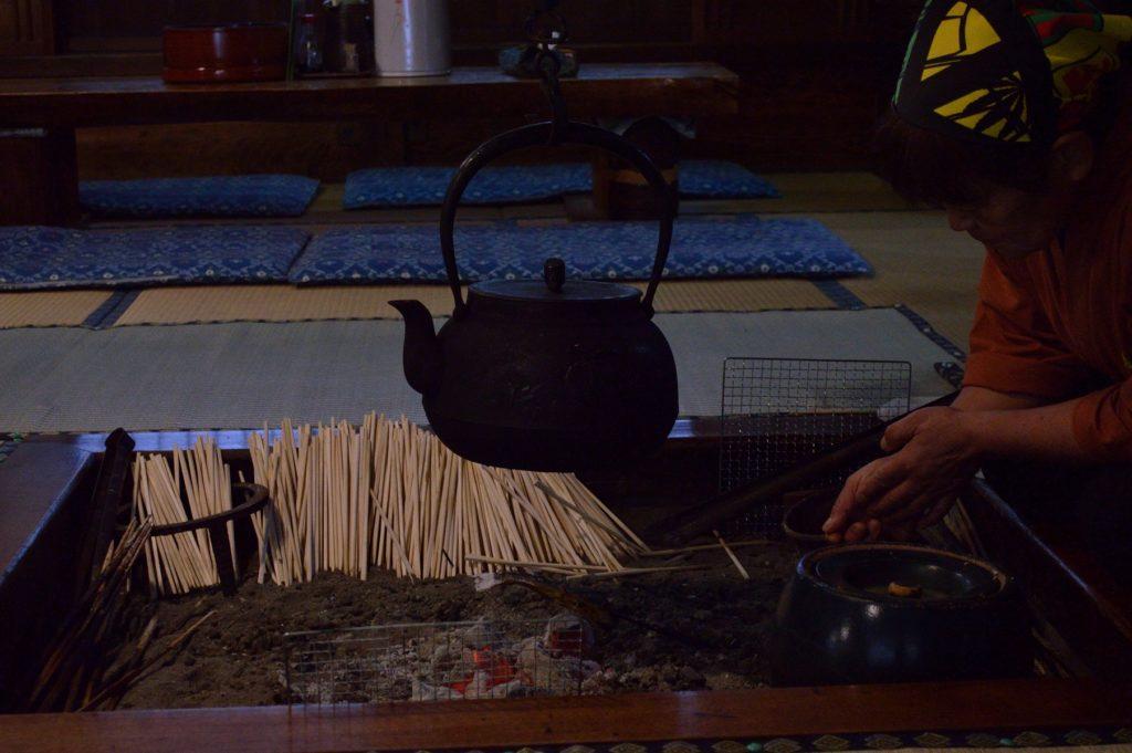 福島県 大内宿 山形屋 囲炉裏端