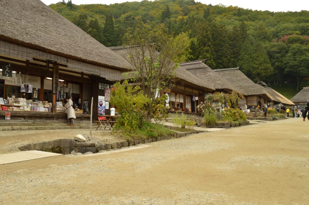 福島県 大内宿 街道の様子 (4)