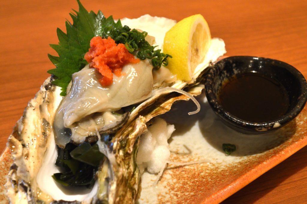 茨城県ひたちなか市2019年10月12日 旬彩かすが 岩牡蠣