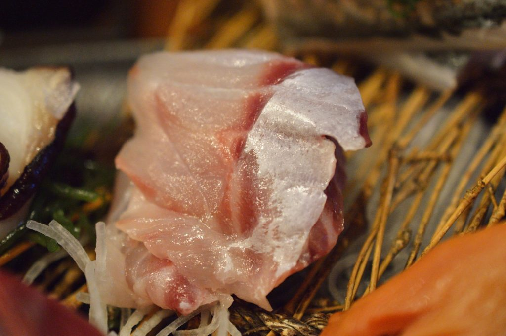 茨城県ひたちなか市2019年10月13日 旬彩かすが 本日の刺身盛り定食 の刺身 (3)