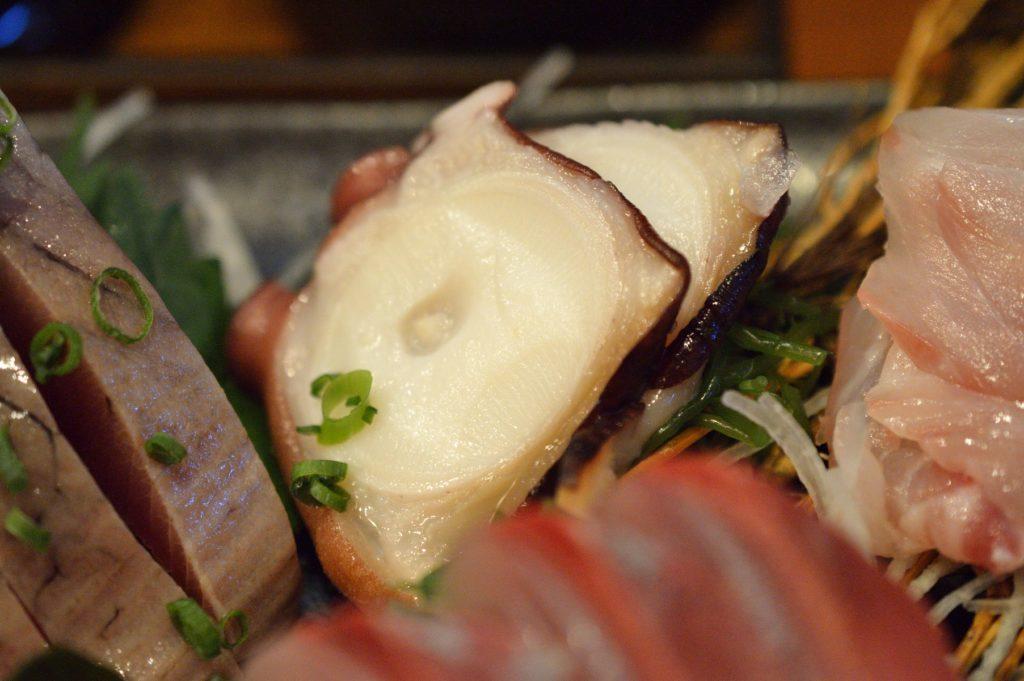 茨城県ひたちなか市2019年10月13日 旬彩かすが 本日の刺身盛り定食 の刺身 (4)