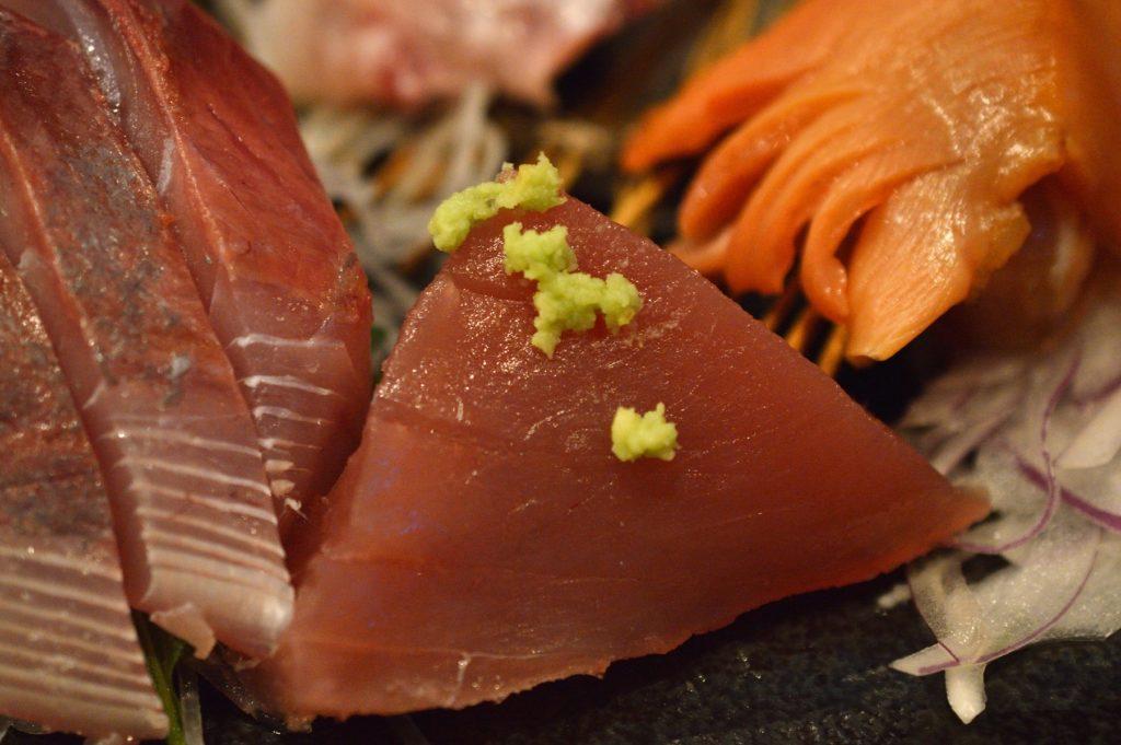 茨城県ひたちなか市2019年10月13日 旬彩かすが 本日の刺身盛り定食 マグロ
