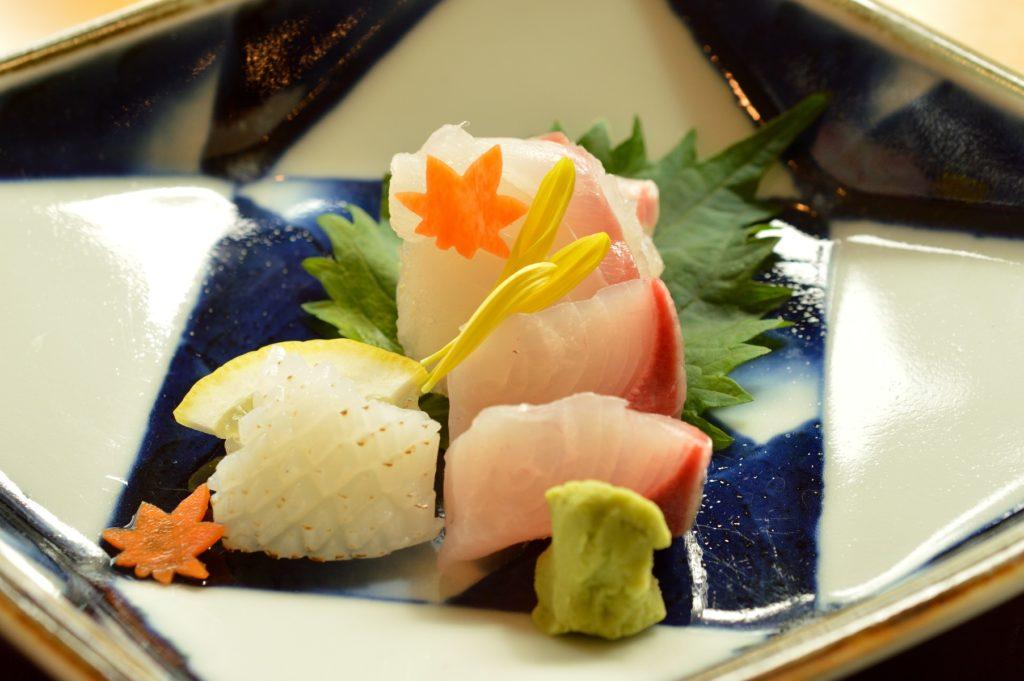 茨城県水戸市 ホテルレイクビュー 日本料理 花結び 花御膳 お刺身00