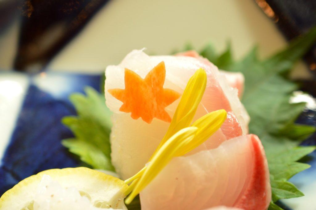 茨城県水戸市 ホテルレイクビュー 日本料理 花結び 花御膳 お刺身01