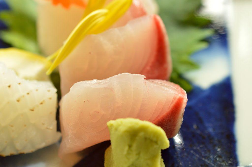 茨城県水戸市 ホテルレイクビュー 日本料理 花結び 花御膳 お刺身02