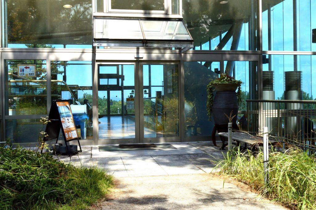 茨城県 ひたち海浜公園 グラスシーサイドカフェの入り口