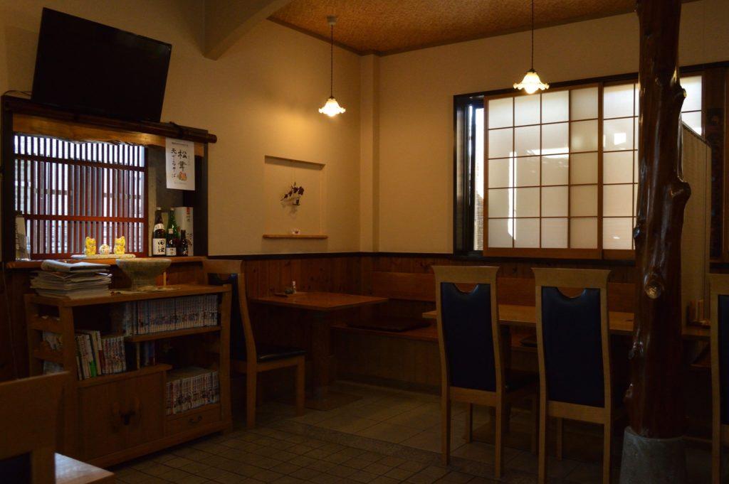 水戸 水府庵 店内の座席 (2)