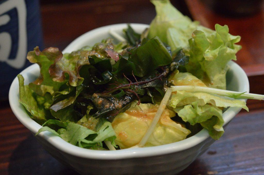 茨城県ひたちなか市 ひかり寿司 特上握り サラダ