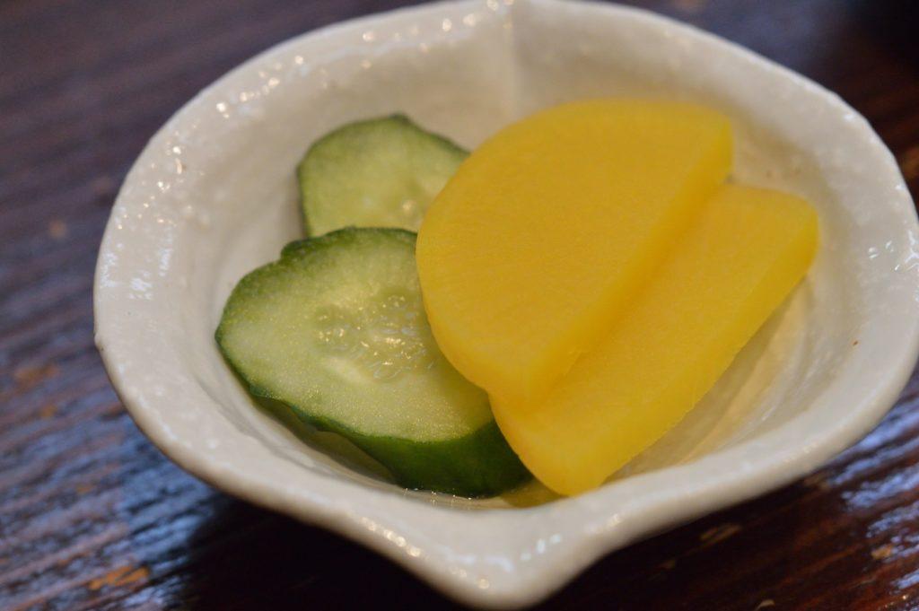 茨城県ひたちなか市 ひかり寿司 特上握り 漬物