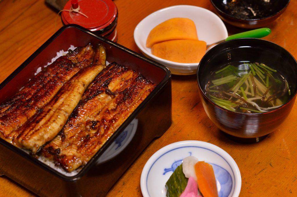茨城県大洗町 那珂川楼 上うな重定食 (2)