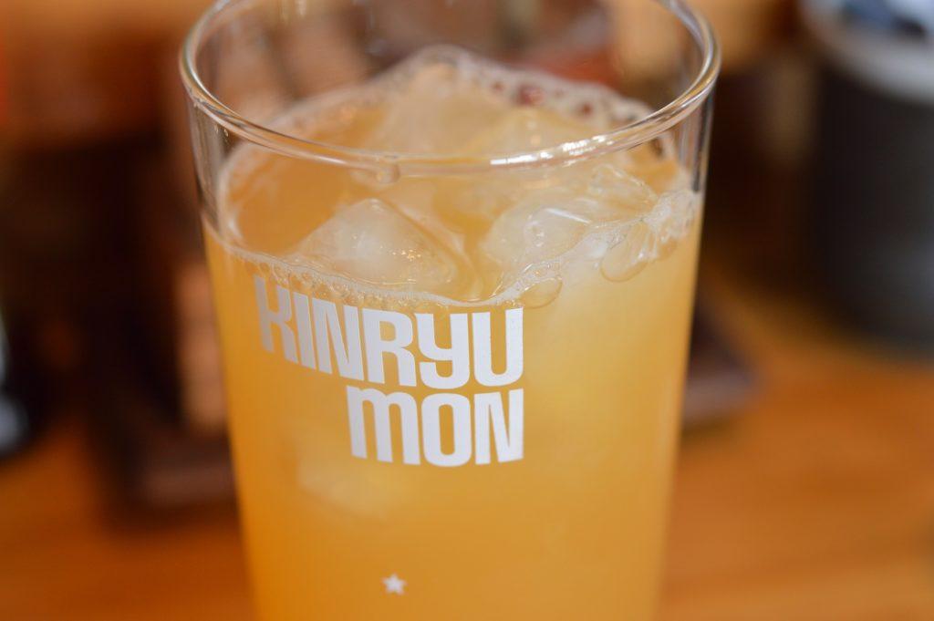 茨城県日立市 ラーメン千歳 オレンジジュース