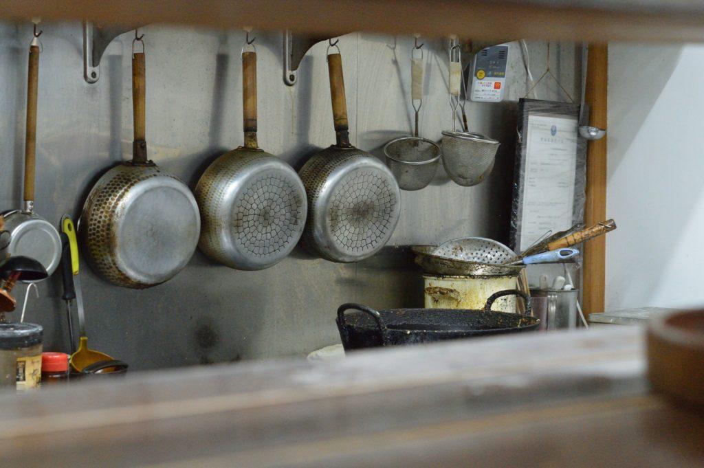 茨城県東海村 そば処 こぶし 厨房