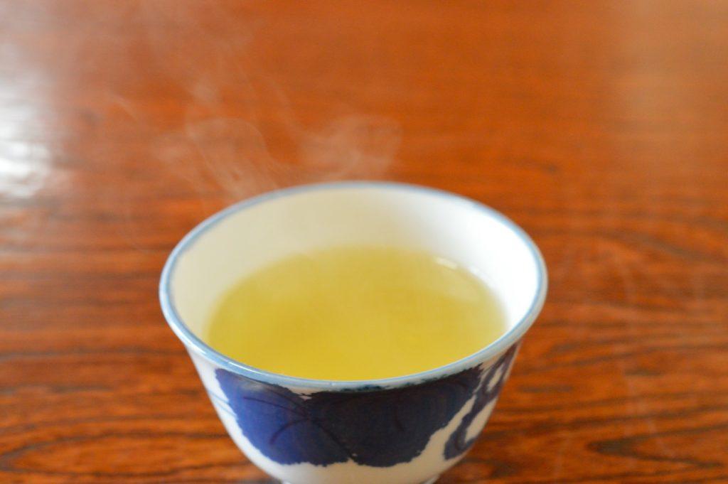 茨城県水戸市 そば処かずき 店内の様子 お茶