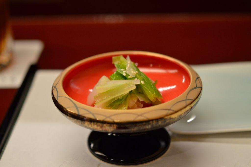 茨城県ひたちなか市 鮨処 花ひろ うるいのお浸し1
