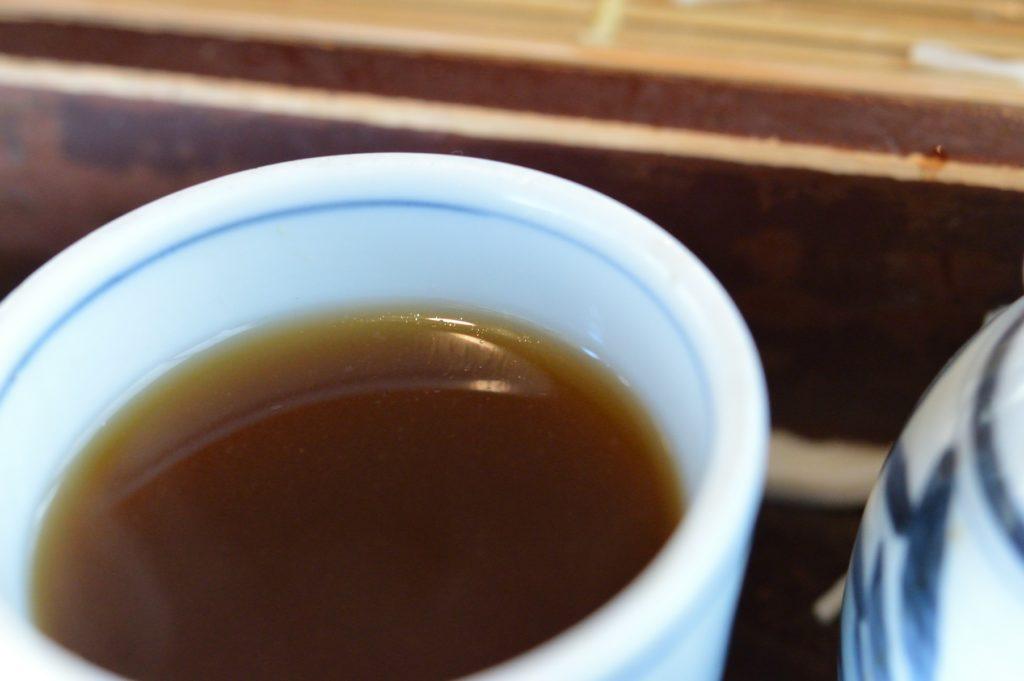 茨城県水戸市 藪そば かき揚げそば 蕎麦湯