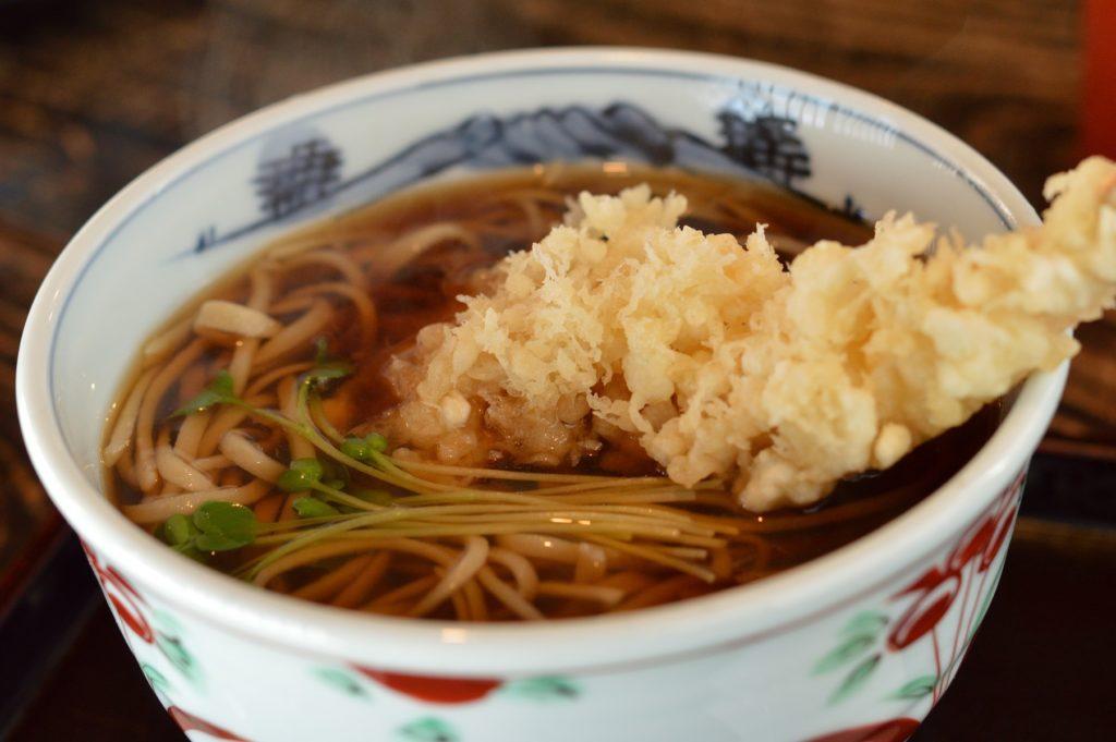 茨城県水戸市 藪そば 天ぷら蕎麦 (1)