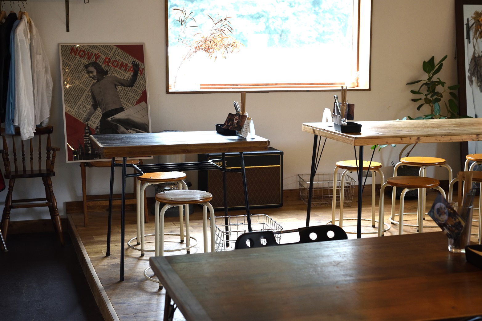 city cafe and space 店内