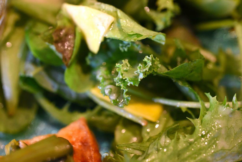 gley style cafe グリーンサラダ トウモロコシのゴマ味噌ドレッシング
