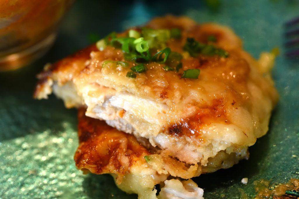 gley style cafe ランチ さくら鶏の酒粕みそ漬け モッツァレラチーズはさみ焼き
