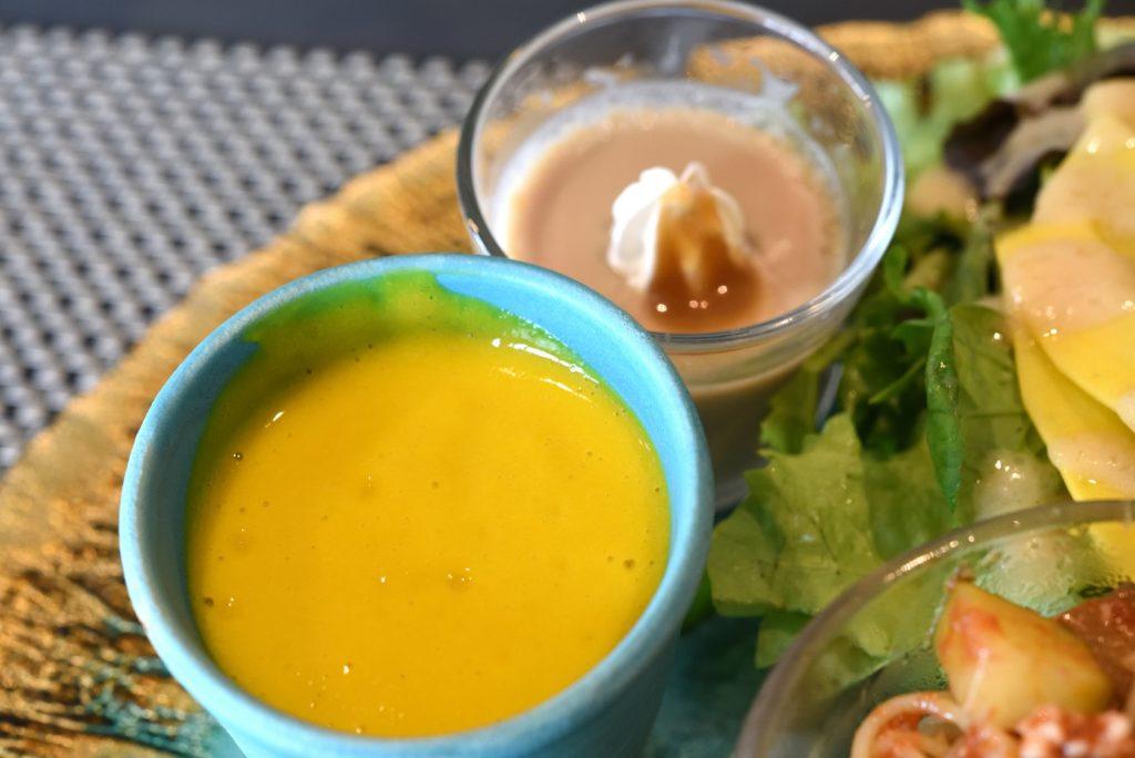 gley style cafe ランチ カボチャの冷製ポタージュ