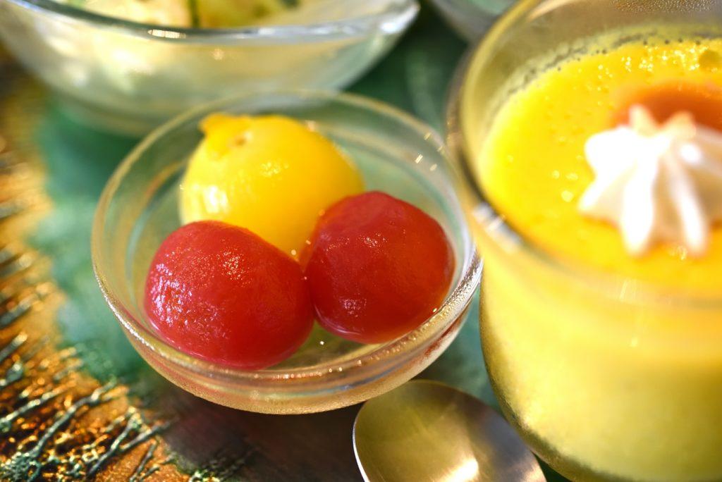 gley style cafe ランチ トマトのシロップ漬け