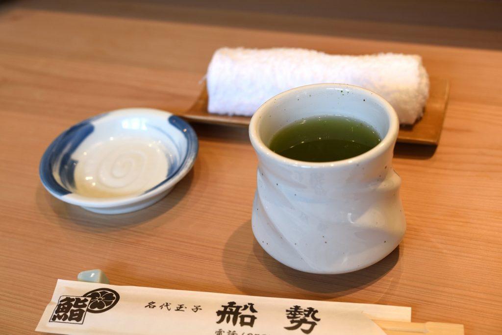 船勢 お茶 おしぼり 割り箸