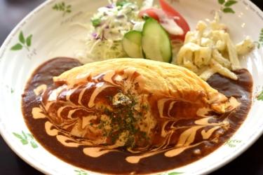 【花きゃべつ】水戸で長年愛され続けている洋食店! 納豆ハヤシオムライスはぜひともお試しあれ@茨城県水戸市
