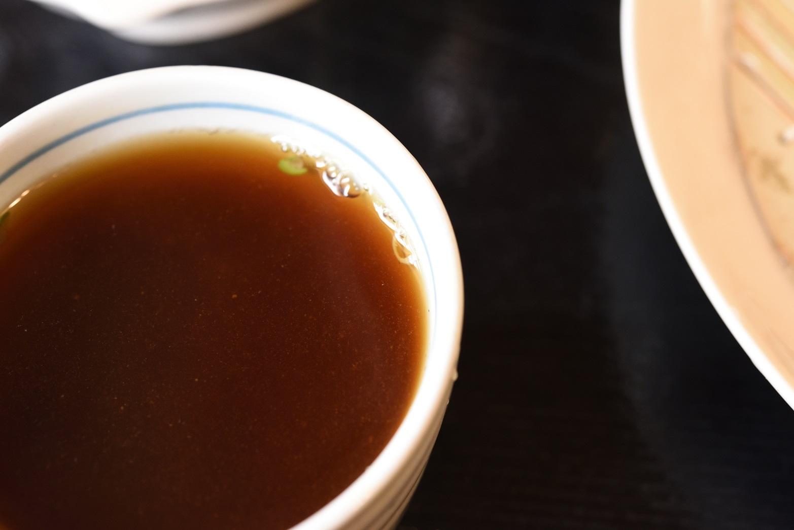 鮨健 蕎麦湯