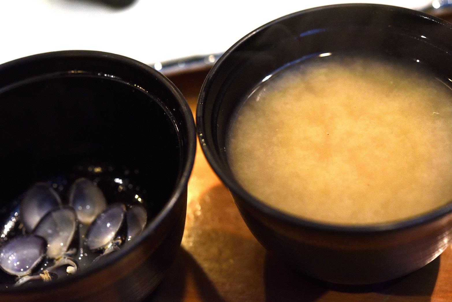 寿司割烹末広 お味噌汁