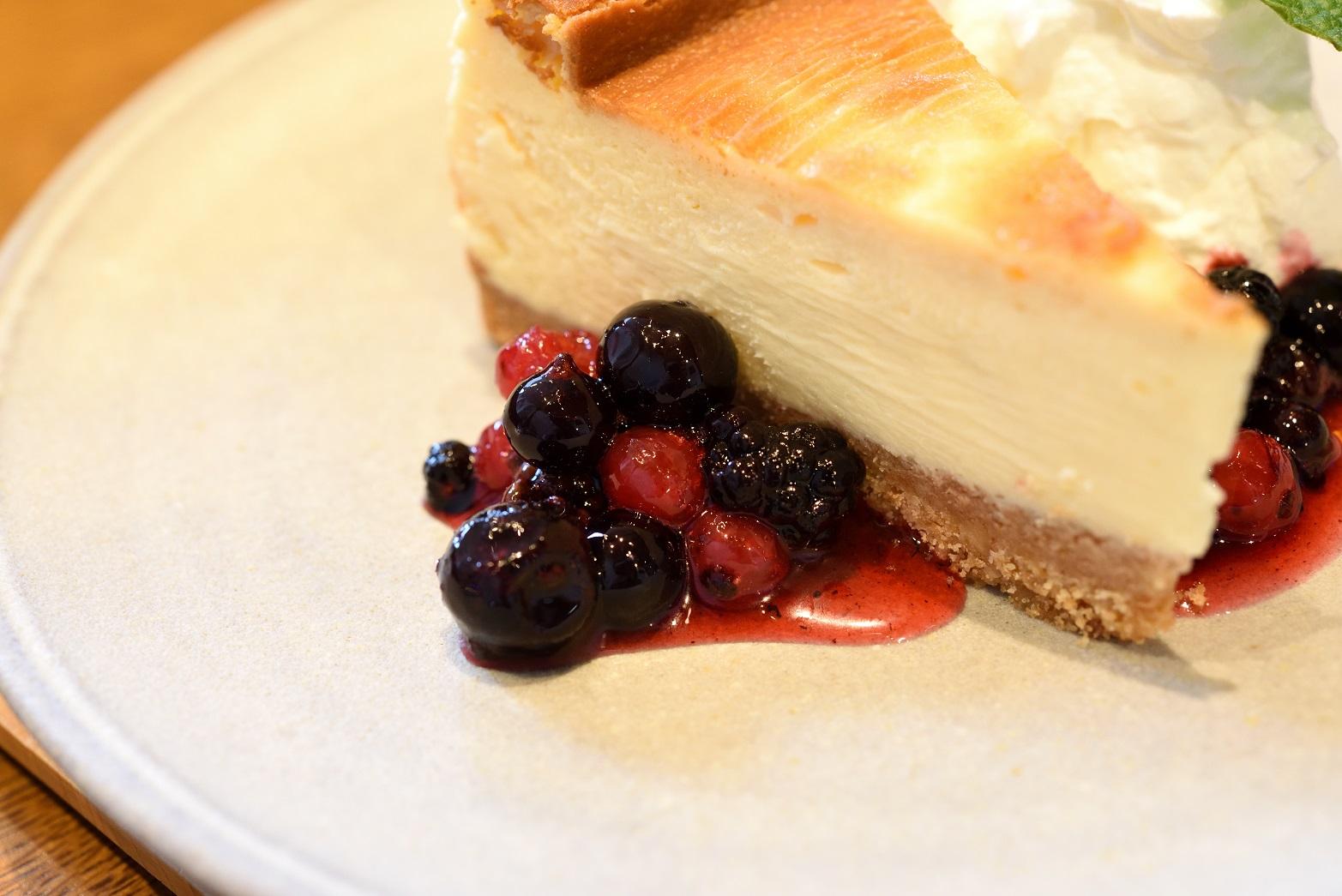 梅カフェwaon チーズケーキ