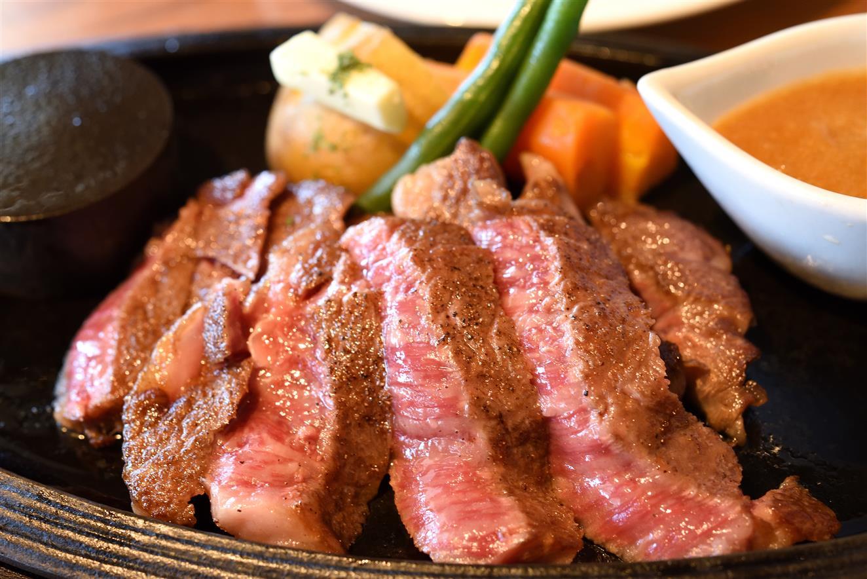にこにこステーキ&ハンバーグひまわり 常陸牛カットステーキ